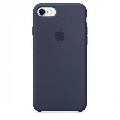 Чехол для смартфона Apple iPhone 7 Silicone Case - Midnight Blue (MMWK2ZM/A)Чехлы для смартфонов Apple<br>Силиконовый чехол Apple для iPhone 7 плотно прилегает к кнопкам громкости и режима сна, точно повторяет контуры телефона, но при этом не делает его громоздким. Мягкая подкладка из микроволокна защищает корпус телефона. А его внешняя силиконовая поверхность очень приятна на ощупь.<br>