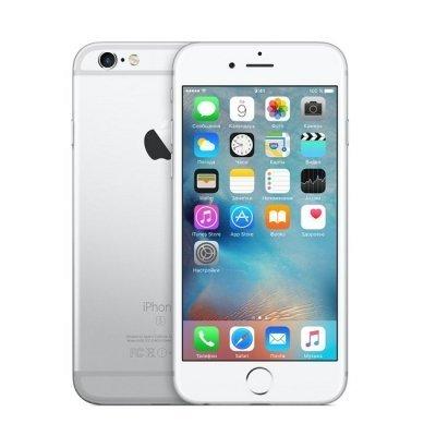 Смартфон Apple IPHONE 6S 32Gb серебристый (MN0X2RU/A)Смартфоны Apple<br>ОС iPhone iOS 10, экран: 4.7 дюйма, Retina, 1334?750, процессор: Apple A9, + сопроцессор движения М9, камера: 12Мп, ГЛОНАСС, время работы в режиме разговора, до: 14ч, в режиме ожидания, до: 240ч<br>