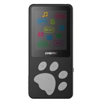 Цифровой плеер Digma S3 4Gb черный/серый (S3BG)Цифровые плееры Digma<br>Плеер Flash Digma S3 4Gb черный/серый/1.8/FM/microSD<br>