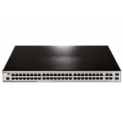 Коммутатор D-Link DES-3200-52P/A (DES-3200-52P/A)Коммутаторы D-Link<br>48-Port 10/100Mbps PoE + 2 Combo 1000BASE-T/SFP + 2 10/100/1000BASE-T L2 Management Switch<br>
