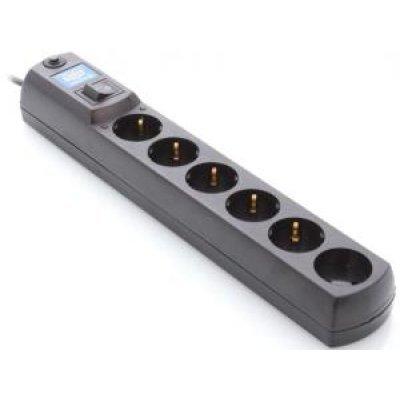 Сетевой фильтр Most HV6 2м черный 6 розеток (МОSТ НV6-Ч 2м)Сетевые фильтры Most<br>Сетевой фильтр Most HV6 2м черный 6 розеток<br>