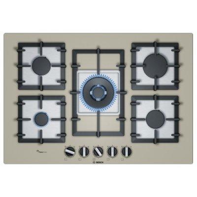 Газовая варочная панель Bosch PPQ7A8B90 (PPQ7A8B90)Газовые варочные панели Bosch<br>газовая варочная панель<br>поверхность из закаленного стекла<br>5 газовых конфорок<br>двухконтурная конфорка<br>переключатели поворотные<br>электроподжиг<br>независимая установка<br>габариты (ШхГ) 75.2x52 см<br>