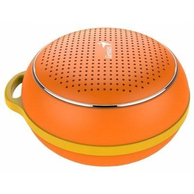 Портативная акустика Genius SP-906BT оранжевый (31731072103)Портативная акустика Genius<br>портативная акустика моно<br>мощность 3 Вт<br>питание от батарей<br>Bluetooth<br>