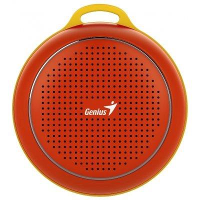 Портативная акустика Genius SP-906BT красный (31731072104)Портативная акустика Genius<br>портативная акустика моно<br>мощность 3 Вт<br>питание от батарей<br>Bluetooth<br>