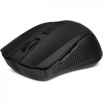 Мышь SVEN RX-345 черный (SV-014148)Мыши SVEN<br>лазерная, беспроводная (радиоканал), 1400 dpi, USB, цвет: чёрный<br>