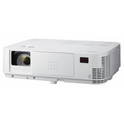 Проектор NEC M322H (M322H)Проекторы NEC<br>портативный широкоформатный проектор<br>технология DLP<br>поддержка 3D<br>поддержка HDTV<br>разрешение 1920x1080 (Full HD)<br>световой поток 3200 лм<br>контрастность 8000:1<br>подключение по VGA (DSub), HDMI<br>подключение к сети Ethernet<br>вывод изображения с USB-флэшек<br>вес 3.7 кг<br>