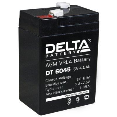 Аккумуляторная батарея для ИБП Delta DT 6045 (DT 6045)Аккумуляторные батареи для ИБП Delta<br>Аккумулятор Delta DT 6045 6V4.5Ah<br>