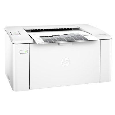 Монохромный лазерный принтер HP LaserJet Pro M104a (G3Q36A)Монохромные лазерные принтеры HP<br>лазерный, печать черно-белая, максимальный формат А4, скорость ч/б печати 22 стр/мин, разъемы и средства связи: USB 2.0, вес: 4.7 кг, рекомендуем для дома (G3Q36A)<br>