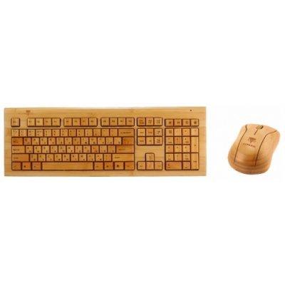 Комплект клавиатура+мышь Konoos BAMBOOK KBKM-01 (KBM-01)Комплекты клавиатура мышь Konoos<br>Клавиатура + Мышь KONOOS BAMBOOK KBKM-01 беспроводные Натуральный бамбук, USB<br>