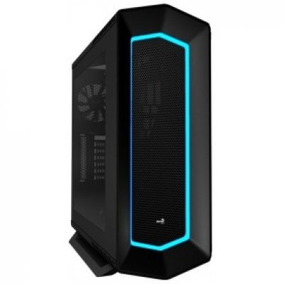 Корпус системного блока Aerocool P7-C1 Black (4713105958294)Корпуса системного блока Aerocool<br>Корпус Aerocool P7-C1 Black , ATX, без БП, с окном, 8 вариантов подсветки, 2x USB2.0, 2x USB3.0, SD<br>