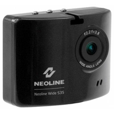 Видеорегистратор Neoline Wide S35 черный (S35)Видеорегистраторы Neoline<br>видеорегистратор<br>запись видео 1920x1080 при 30 к/с<br>угол обзора 140°<br>с экраном 2 320x240<br>датчик удара (G-сенсор)<br>работа от аккумулятора<br>подключение к телевизору по HDMI<br>поддержка карт памяти microSD (microSDHC)<br>встроенный микрофон<br>