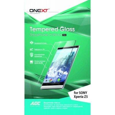 Пленка защитная для смартфонов Onext для Sony Xperia Z5 (Защитное стекло) (40985)Пленки защитные для смартфонов Onext<br>Защитное стекло Onext для телефона Sony Xperia Z5<br>
