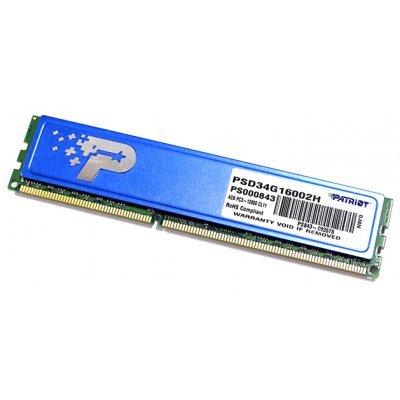 Модуль оперативной памяти ПК Patriot PSD34G16002H (PSD34G16002H)Модули оперативной памяти ПК Patriot<br>Память DDR3 4Gb (pc-12800) 1600MHz Patriot with HS PSD34G16002H<br>