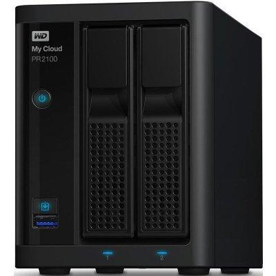 Сетевой накопитель NAS Western Digital WD My Cloud Pro PR2100 8Tb (WDBVND0080JBK-EEUE) (WDBVND0080JBK-EEUE)Сетевые накопители NAS Western Digital<br>СХД настольное исполнение 2BAY 8TB WDBVND0080JBK-EEUE WDC<br>