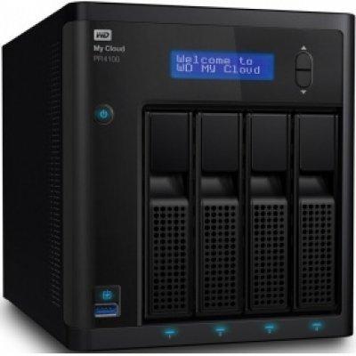 Сетевой накопитель NAS Western Digital My Cloud Pro PR4100 16Tb (WDBKWB0160KBK-EEUE) (WDBKWB0160KBK-EEUE)Сетевые накопители NAS Western Digital<br>СХД настольное исполнение 4BAY 16TB WDBKWB0160KBK-EEUE WDC<br>