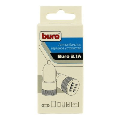 Автомобильное зарядное устройство Buro TJ-189 2.1A+1A (TJ-189), арт: 251230 -  Автомобильные зарядные устройства Buro