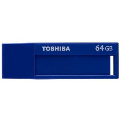 USB накопитель Toshiba TransMemory USB 3.0 64GB голубой (THN-U302B0640M4) toshiba toshiba transmemory thn u301w0640e4 64гб белый пластик usb 3 0