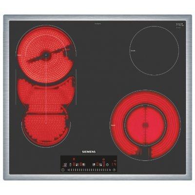 Электрическая варочная панель Siemens ET645FMP1R (ET645FMP1R)Электрические варочные панели Siemens<br>электрическая варочная панель<br>стеклокерамическая поверхность<br>керамические конфорки<br>двухконтурная конфорка<br>конфорка с овальной зоной нагрева<br>переключатели сенсорные<br>защита от детей<br>индикатор остаточного тепла<br>независимая установка<br>габариты (ШхГ) 58.3x51.3 см<br>