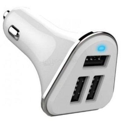 Автомобильное зарядное устройство Wiiix UCC-3-1W (UCC-3-1W)Автомобильные зарядные устройства Wiiix<br>Автомобильное зар./устр. Wiiix UCC-3-1W 2A+2.4A+2.4A универсальное белый<br>