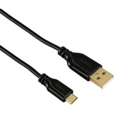 Кабель USB Hama USB A (m)/microUSB (m) 0.75м (135700)