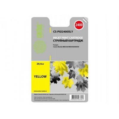 Картридж совместимый для струйных принтеров Cactus CS-PGI2400XLY желтый для Canon MAXIFY iB4040/ МВ5040/ МВ5340 (20.4мл) (CS-PGI2400XLY)