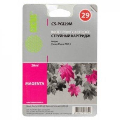 Картридж совместимый для струйных принтеров Cactus CS-PGI29M пурпурный для Canon Pixma Pro-1 (36мл) (CS-PGI29M) картридж совместимый для струйных принтеров cactus cs pgi29co оптимизатор для canon pixma pro 1 36мл cs pgi29co