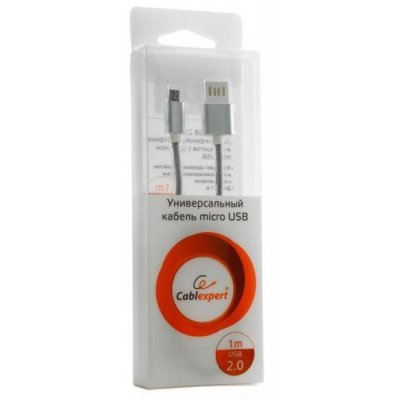 Кабель USB Gembird 2.0 CCB-mUSBs 1м (CCB-mUSBs1m) кабель usb 2 0 am microbm 1м gembird золотистый металлик cc musbgd1m