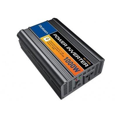 Автомобильный инвертор Rolsen RCI-1000 (1-RLCA-RCI-1000)Автомобильные инверторы Rolsen<br>Входное напряжение постоянный ток 11-15 В Выходное напряжение переменный ток 220-230 В, 50-60 Гц Форма выходного сигнала аппроксимированная синусоида Эффективность не ниже 85% Пиковая мощность 1000 Вт Защита от перегрузки Защита от неисправности и неверной полярности Температурная защита Рабочая тем ...<br>