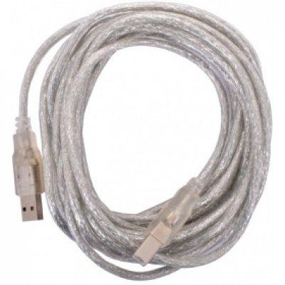 Кабель USB Telecom 2.0 VUS6900T-5MTP 5m (VUS6900T-5MTP)Кабели USB Telecom<br>Кабель USB 2.0 AM/BM 5m Telecom прозрачная изоляция (VUS6900T-5MTP)<br>