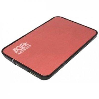 Корпус для жесткого диска Agestar 3UB2A8 (RED) (3UB2A8 (RED)) sata корпус agestar 3ub2a8 black usb3 0 to 2 5hdd sata алюминий