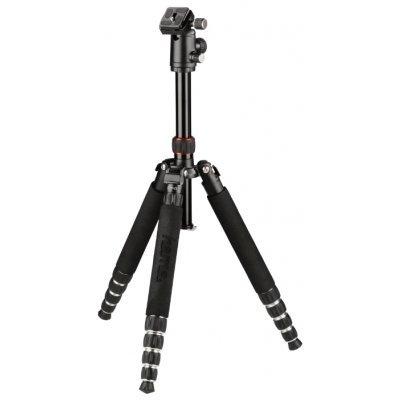 Штатив для фотоаппарата Hama Traveller 150 Premium Duo (4265)Штативы для фотоаппаратов Hama<br>Штатив Hama Traveller 150 Premium Duo напольный черный алюминиевый сплав (1530гр.)<br>