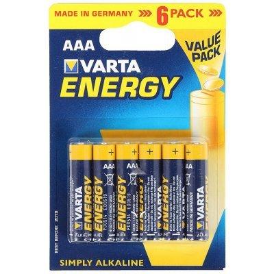 Аккумуляторная батарейка ААА Varta Energy блистер 6 04103229416 (4103229416)Аккумуляторные батарейки ААА Varta<br>Батарейки VARTA Energy AAA блистер 6 04103229416<br>