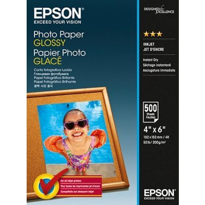 Бумага для принтера Epson Photo Paper Glossy 200г/м2 10x15 500sheets (C13S042549) картридж epson t009402 для epson st photo 900 1270 1290 color 2 pack