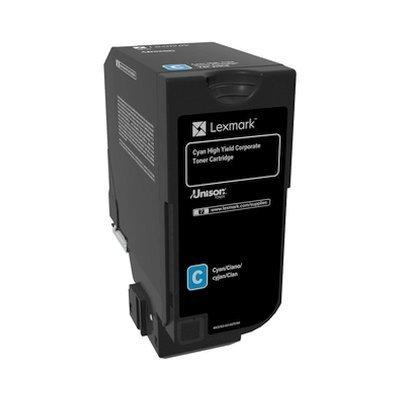 Тонер-картридж для лазерных аппаратов Lexmark 74C5HCE голубой для CS725de (12 000 стр.) (74C5HCE)Тонер-картриджи для лазерных аппаратов Lexmark<br>Картридж с тонером голубого цвета высокой емкости для организаций (12 000 стр.) для CS725de<br>