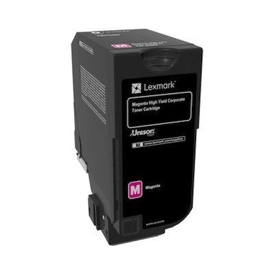 Тонер-картридж для лазерных аппаратов Lexmark пурпурный для CS725de (12 000 стр.) (74C5HME)Тонер-картриджи для лазерных аппаратов Lexmark<br>Картридж с тонером пурпурного цвета высокой емкости для организаций (12 000 стр.) для CS725de<br>
