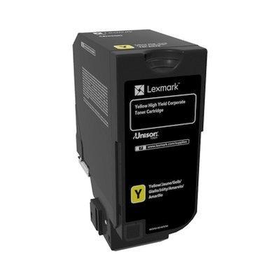 Тонер-картридж для лазерных аппаратов Lexmark желтый для CS725de (12 000 стр.) (74C5HYE)Тонер-картриджи для лазерных аппаратов Lexmark<br>Картридж с тонером желтого цвета высокой емкости для организаций (12 000 стр.) для CS725de<br>