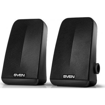 Компьютерная акустика SVEN 380 (SV-014216)Компьютерная акустика SVEN<br>SVEN 380, чёрный, USB, акустическая система 2.0, мощность 2x3 Вт(RMS), пассивный излучатель<br>