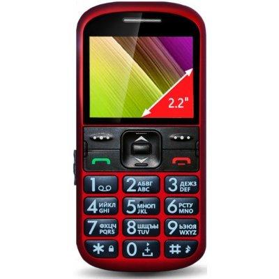 Мобильный телефон Ginzzu R12D красный (БП-00000161) мобильный телефон ginzzu mb501 красный