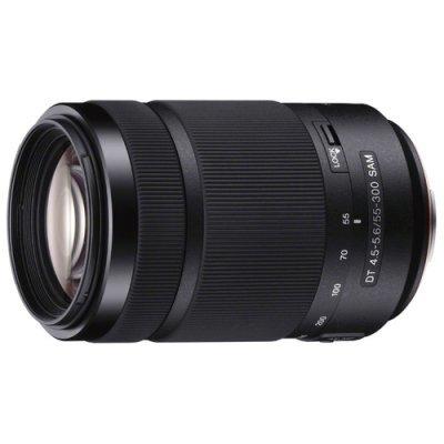 Объектив для фотоаппарата Sony Alpha SAL-55300 55-300мм f/4.5-5.6 Macro черный (SAL55300.AE) sony alpha ilca 77m2 body черный