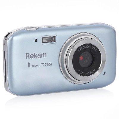 Цифровая фотокамера Rekam iLook S755i серый (1108005122) rekam ilook s955i black цифровая фотокамера