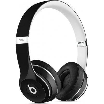 Bluetooth-гарнитура Beats Solo 2 Luxe Edition 1.36м черный/белый (ML9E2ZE/A)