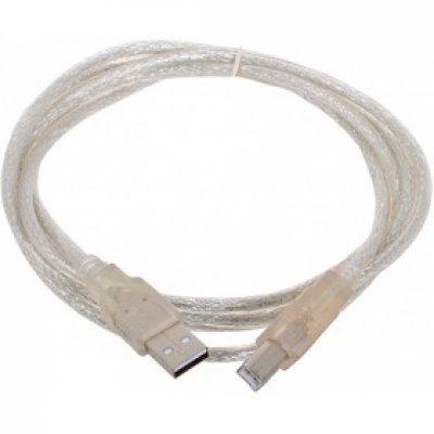 Кабель USB Telecom VUS6900T-1.8MTP 1.8м (VUS6900T-1.8MTP)Кабели USB Telecom<br>Кабель USB 2.0 AM/BM 1.8m Telecom  прозрачная изоляция (VUS6900T-1.8MTP)<br>