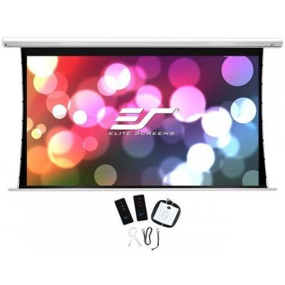 Проекционный экран Elite Screens SKT100XHW-E12 (SKT100XHW-E12)Проекционные экраны Elite Screens<br>Экран на раме Elite Screens 124.5x221.5см Saker Tab-Tension SKT100XHW 16:9 настенно-потолочный натяжной белый (моторизованный привод)<br>