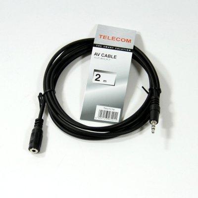 Кабель аудио 3,5 мм Telecom TAV7179-2M 2м (TAV7179-2M)Кабели аудио 3,5 мм Telecom<br>Кабель удлинительный Telecom 3.5 Jack (M) - 3.5 Jack (F), стерео, аудио, 2м &amp;lt;TAV7179-2M&amp;gt;<br>