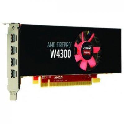 Профессиональный видеоускоритель HP PCI-E AMD FirePro W4300 4096Mb 128bit GDDR5 930/1500/mDPx4 Ret low profile (T7T58AA)Профессиональные видеоускорители HP<br>Видеокарта HP PCI-E AMD FirePro W4300 4096Mb 128bit GDDR5 930/1500/mDPx4 Ret low profile<br>