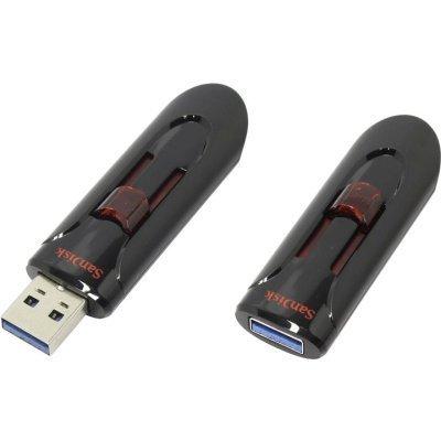 USB накопитель Sandisk SDCZ600-256G-G35 (SDCZ600-256G-G35)USB накопители Sandisk<br>Флеш Диск Sandisk 256Gb Cruzer Glide SDCZ600-256G-G35 USB3.0 черный/красный<br>
