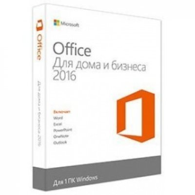 Офисное приложение Microsoft Office Home and Business 2016 32/64 Russian Only DVD (T5D-02705)Офисные приложения Microsoft<br>Офисное приложение Microsoft Office Home and Business 2016 64 Russian Only DVD<br>