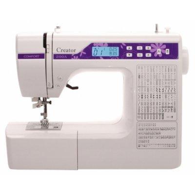 Швейная машина Comfort 200A (COMFORT 200A)Швейные машины Comfort<br>швейная машина<br>электронное управление<br>горизонтальный челнок<br>количество операций: 189<br>автоматическая обработка петли<br>обметочная строчка, потайная строчка, эластичная строчка, эластичная потайная строчка<br>дисплей<br>рукавная платформа<br>