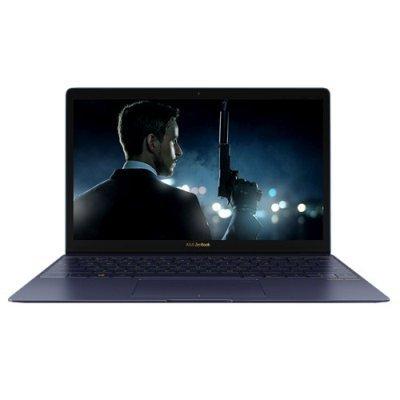 Ультрабук ASUS Zenbook 3 UX390UA-GS068T (90NB0CZ1-M03280) (90NB0CZ1-M03280)Ультрабуки ASUS<br>Core i7-7500U/8Gb/512GB SSD/Intel HD Graphics 620/12.5/FHD (1920x1080)/WiFi/BT/Cam/Windows 10 /Blue/Illuminated KB/910g<br>