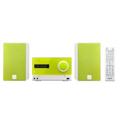Аудио микросистема Pioneer X-CM35-N зеленый (X-CM35-N)Аудио микросистемы Pioneer<br>Микросистема Pioneer X-CM35-N зеленый 30Вт/CD/CDRW/FM/USB/BT<br>